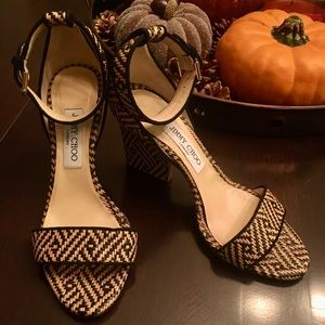 Jimmy Choo Edina Raffia flatten Heel /Sandal shoes